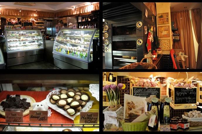 фото интерьера французской пекарни в Москве