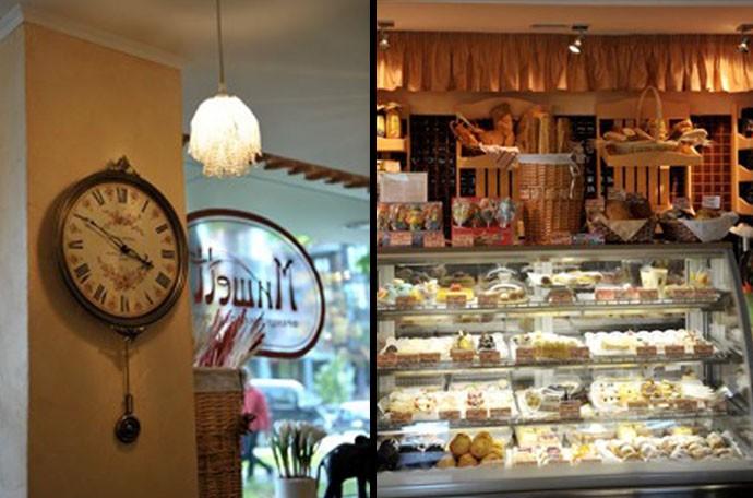 Интерьер французской пекарни-кондитерской, фото