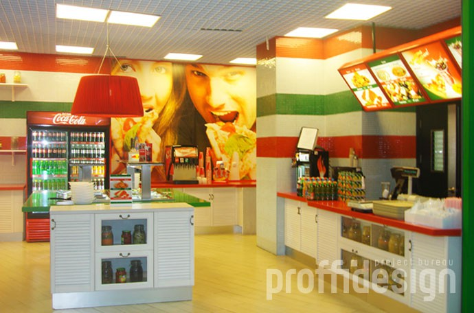 Дизайн кафе-фастфуд «Пицца Миа» в Ростове-на-Дону