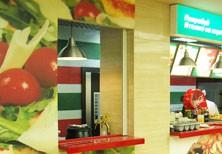 Дизайн кафе быстрого обслуживания «Пицца Миа» в ТРЦ «Мариэль», Москва