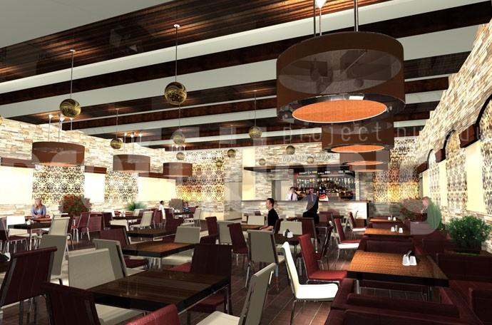 Дизайн интерьера кафе, 3д-моделирование