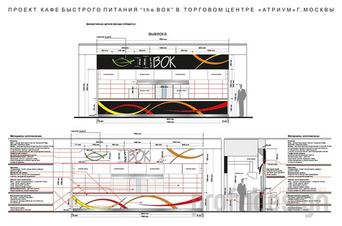 Полный дизайн-проект кафе фастфуд «TheВок»