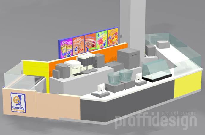 3д-проект-адаптация дизайна кафе-пекарни Wetzel's Pretzels
