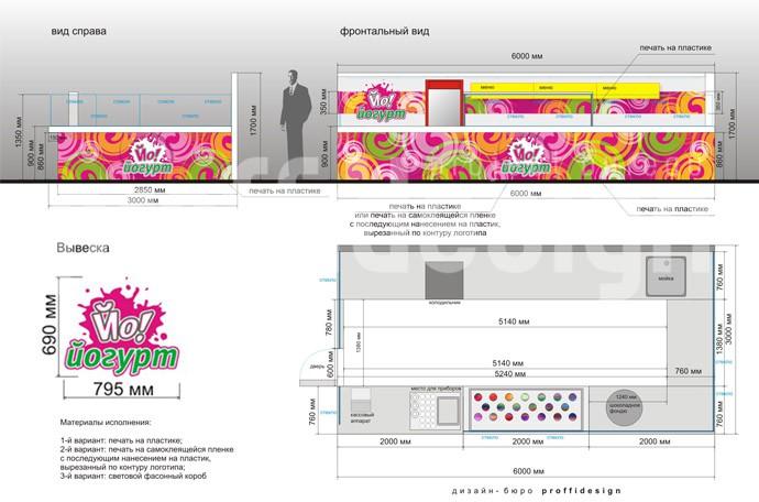 Заказать дизайн-проект кафе-мороженого