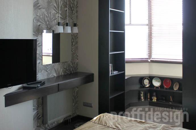 комплект мебели для спальни: макияжный столик, тумба, два стеллажа
