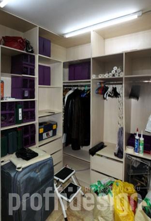 шкафы для хранения одежды в гардеробной комнате, заказать в Москве
