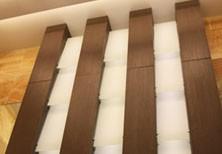 Дизайнерский шкаф-светильник в большой санузел