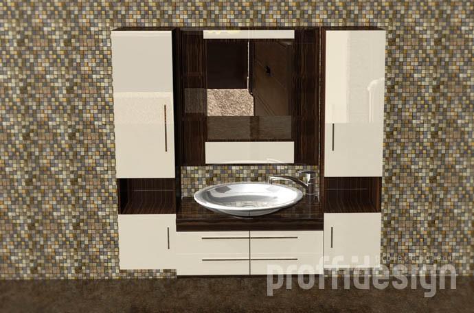 Шкафы в ванную комнату изготовить на заказ в Москве