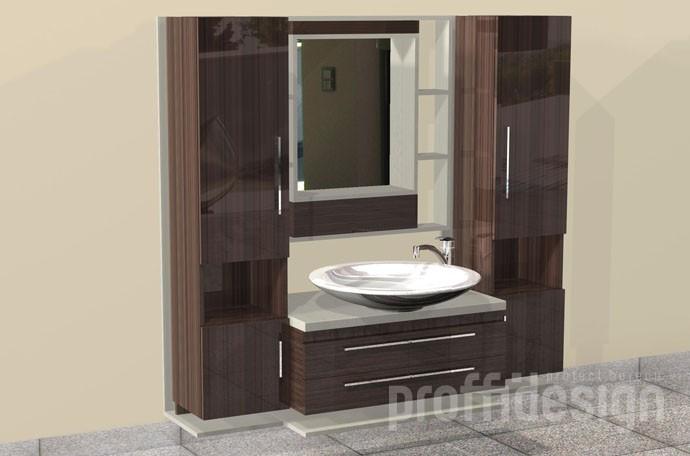 Заказать мебель в ванную, изготовить шкафчик для ванной комнаты в Москве