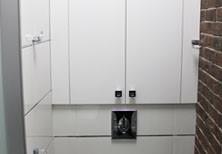 Сантехнический шкаф в санузел лофт встроенный