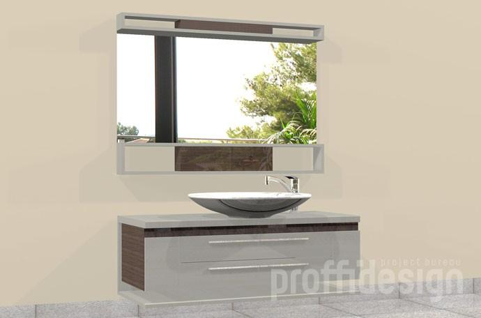 Тумба под раковину на заказ, изготовить навесной зеркальный шкафчик в ванную