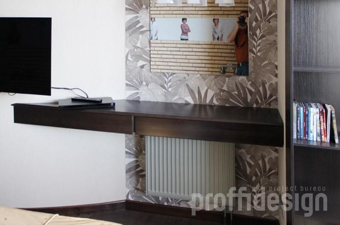 настенный подвисной макияжный столик с выдвижными ящиками заказать в москве