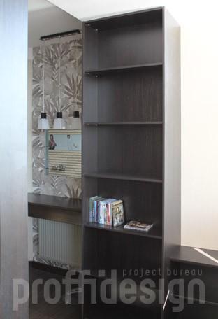 Стеллаж для спални и кабинета из дерева изготовить в москве