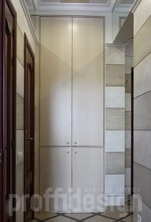 Встроенный хозяйственный шкаф с отделением для стиральной машинки, изготовить в москве