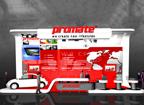 Дизайн выставочного стенда для компании PROMATE, 3Д-моделинг
