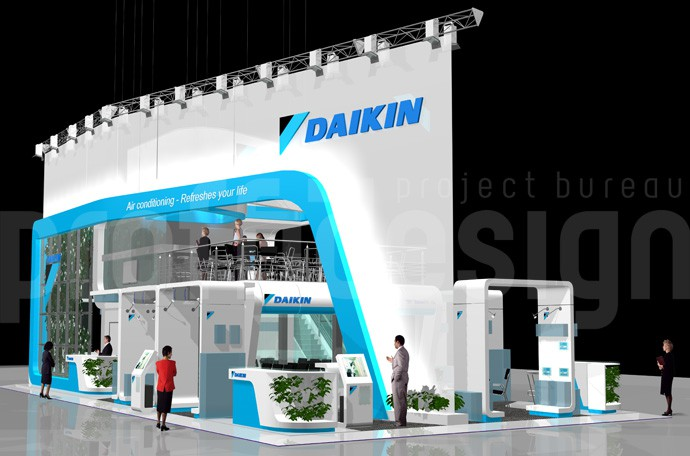 Дизайн выставочного стенда компании DAIKIN