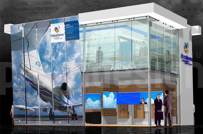 Дизайн выставочного стенда компании «ГАЗПРОМАВИА»