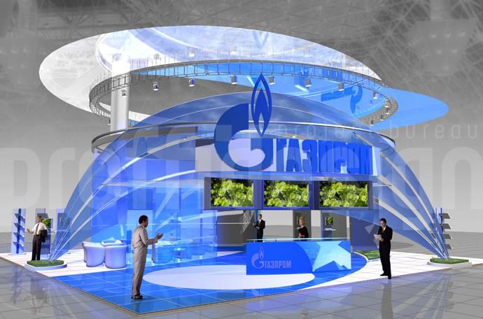 Дизайн выставочного стенда компании Газпром