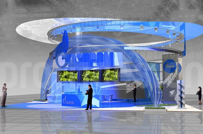 выставочный стенд компании Газпром