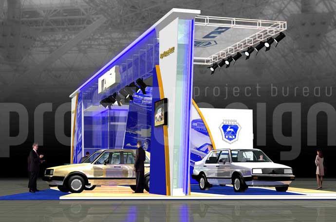 Дизайн выставочного стенда группы компаний «ГАЗ»