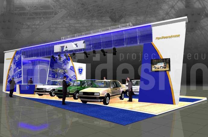 дизайн эксклюзивного стенда группы компаний «ГАЗ»