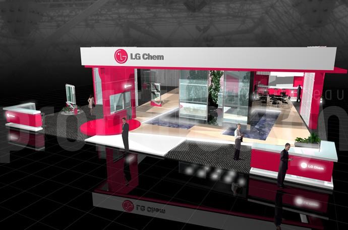 Дизайн выставочного стенда компании LG