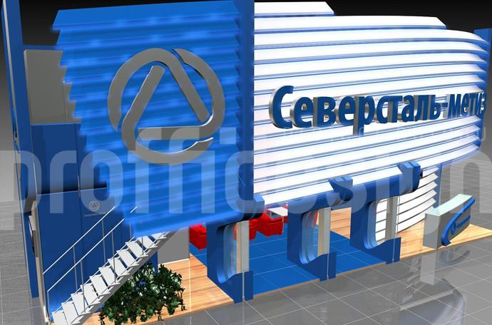 Дизайн выставочного стенда компании«Север Сталь»