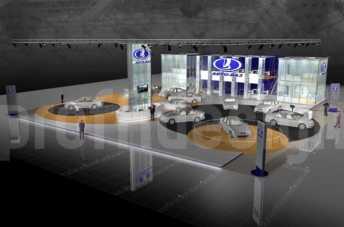 Дизайн выставочного стенда для АВТОВАЗ