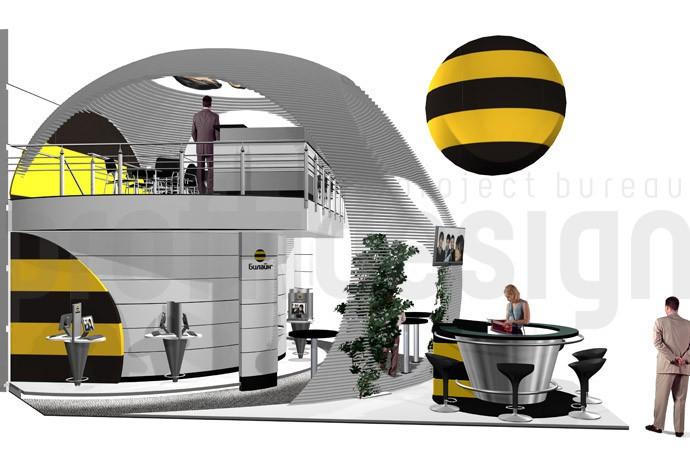 дизайн проект двухэтажного стенда компании Билайн