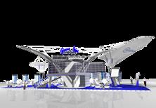 Дизайн эксклюзивного выставочного стенда компании CROSNA