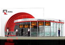 Дизайн стенда для компании Русал