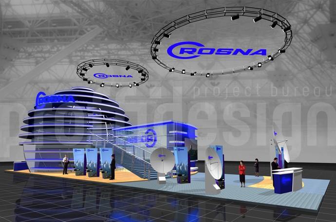 Дизайн проект выставочного стенда компании CROSNA