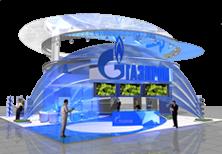 Дизайн эксклюзивного выставочного стенда компании Газпром