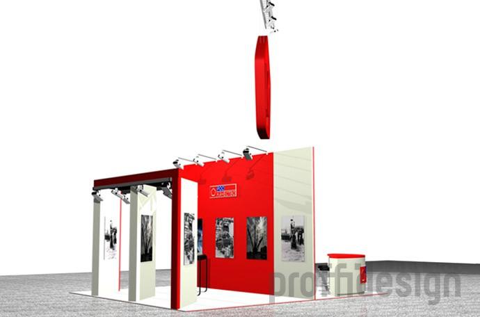 дизайн проект выставочного стенда компании Роскачество