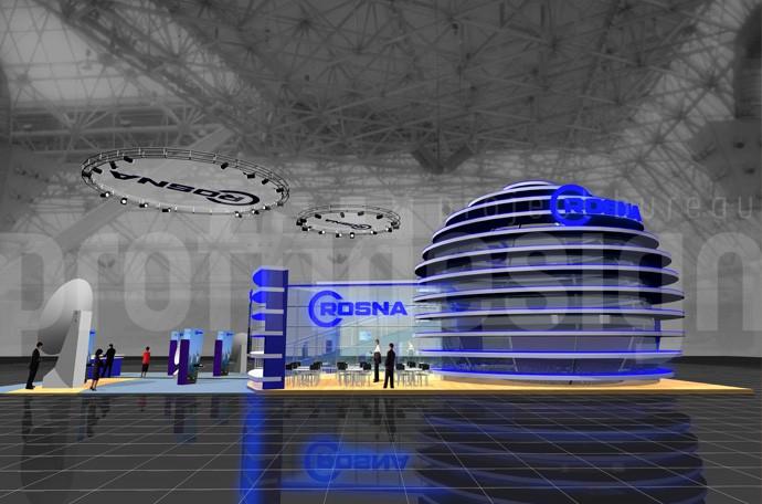 Дизайн выставочного стенда компании КРОСНА
