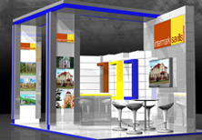 Дизайн выставочного стенда компании Intermark